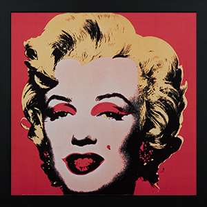 Affiche encadrée Andy Warhol, Marilyn, Red ground 1964