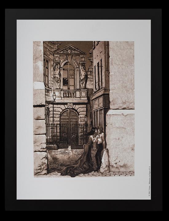 bernard yslaire framed print a l 39 ombre d 39 hugo sambre 30 x 40 cm. Black Bedroom Furniture Sets. Home Design Ideas