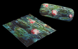 Claude Monet Spectacle Case : Evening water lilies