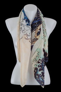 Hokusai square scarf : The Great Wave of Kanagawa