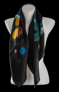 Kandinsky silk scarf : Several circles