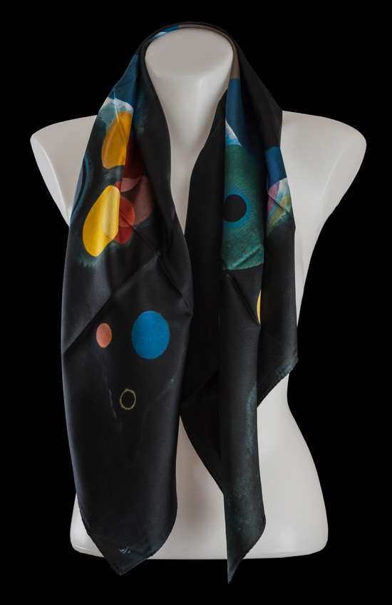 Kandinsky Square scarf : Several circles
