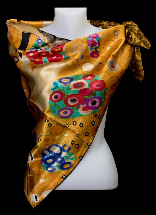 Gustav Klimt Square scarf : The kiss