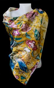 Gustav Klimt scarf : Lady with fan