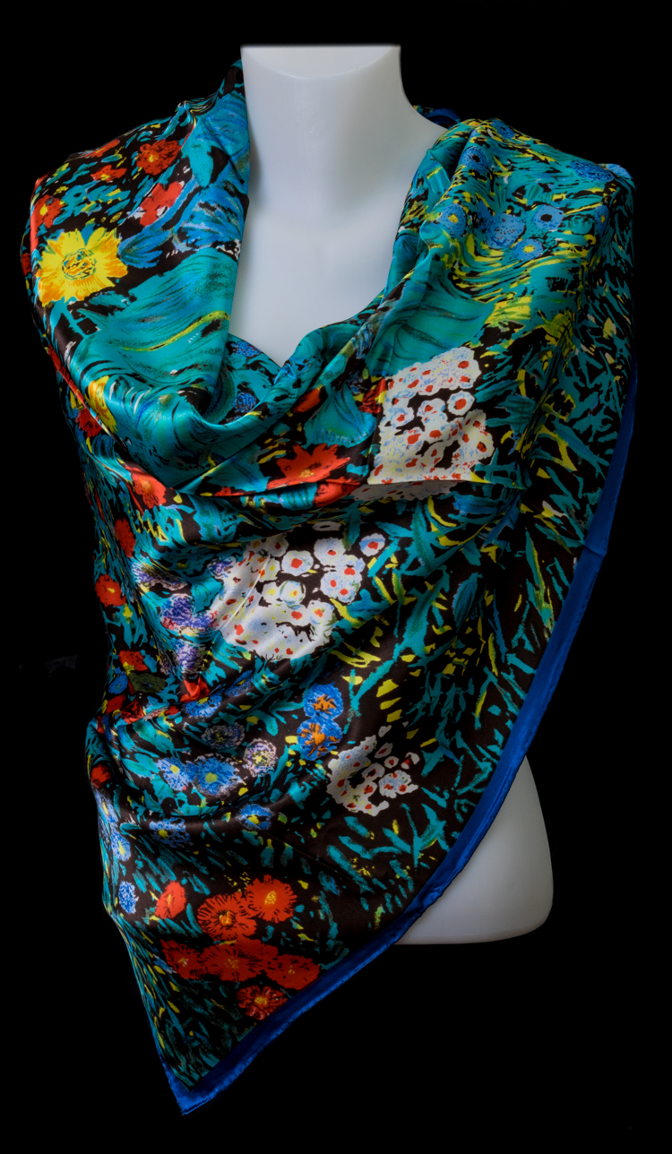 Gustav Klimt Scarf : Farm Garden With Sunflowers ...