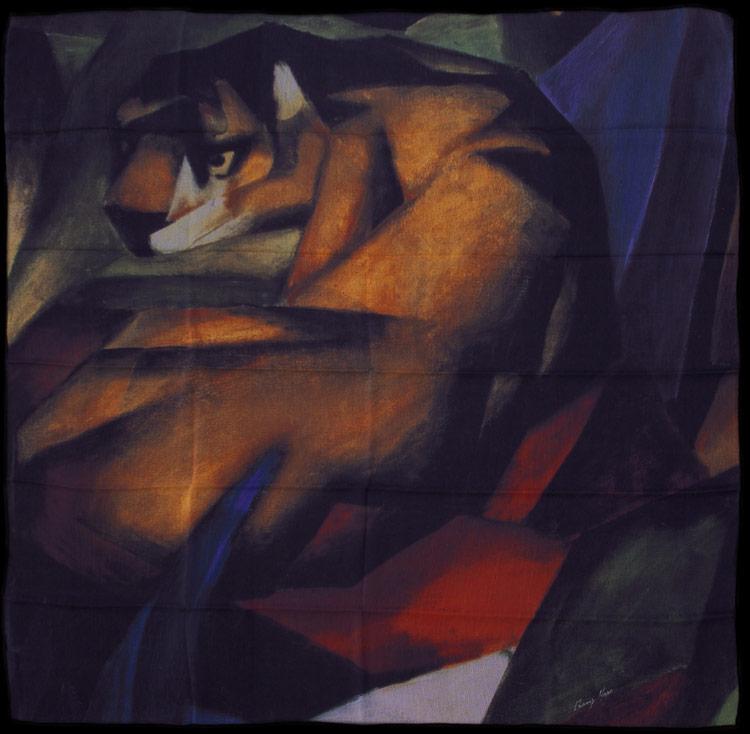Franz Marc Muslin Square Scarf Tiger