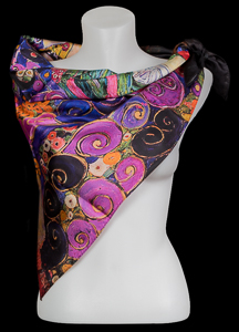 Gustav Klimt scarf : The virgin