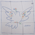 Pablo Picasso scarf : Dove of Peace (unfolded)