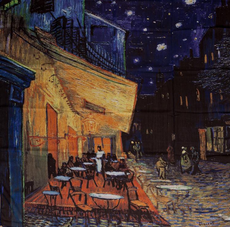 Fular Pañuelo Cuadrado De Muselina Vincent Van Gogh