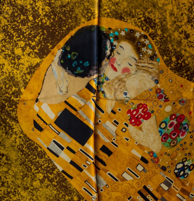 Pañoleta de seda Gustav Klimt : El beso
