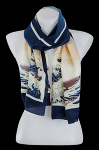 Hokusai silk scarf : The Great Wave of Kanagawa