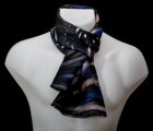 Scarf : Feathers (Blue)