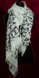Piet Mondrian Scarf by Petrusse : Neo White