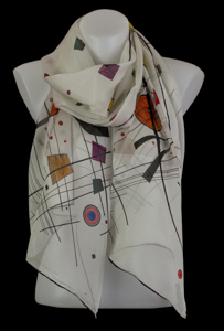 Kandinsky silk scarf : Grey square