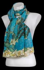 Scarf Van Gogh : Almond Branches in Bloom