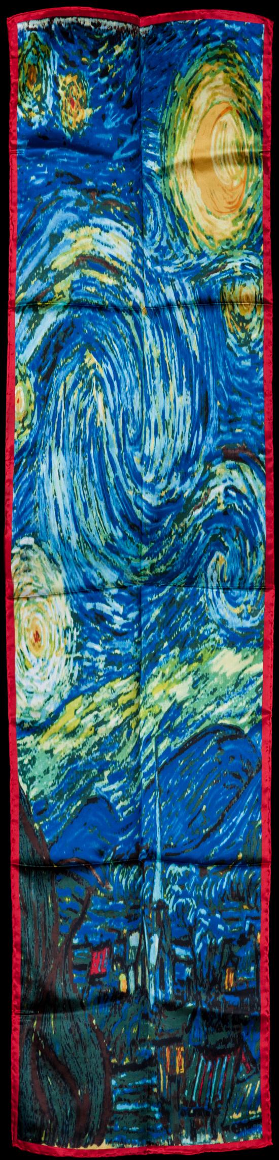 Bufanda De Seda Vincent Van Gogh La Noche Estrellada 155 X
