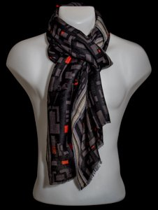 Petrusse scarf for men : Theo (Black)