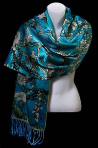 Vincent Van Gogh Shawl : Almond Branches in Bloom