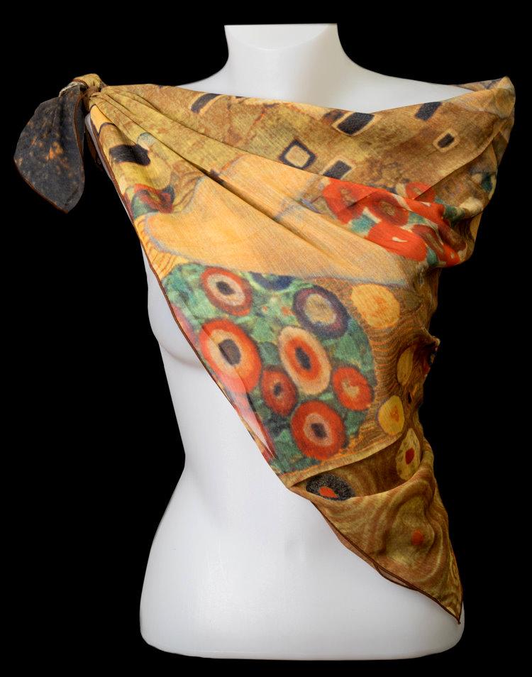 molto carino 42e44 37f19 Foulard Quadrato poliestere Gustav Klimt : Il bacio