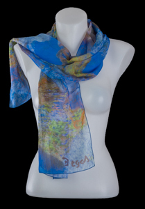 Edgar Degas silk scarf : The ballerinas (blue)