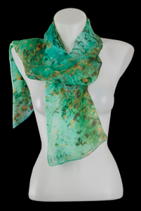 Edgar Degas silk scarf : The ballerinas (green)