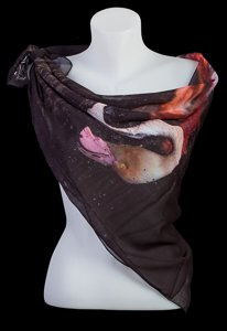 Sophie Delécaut square scarf : Greater flamingo