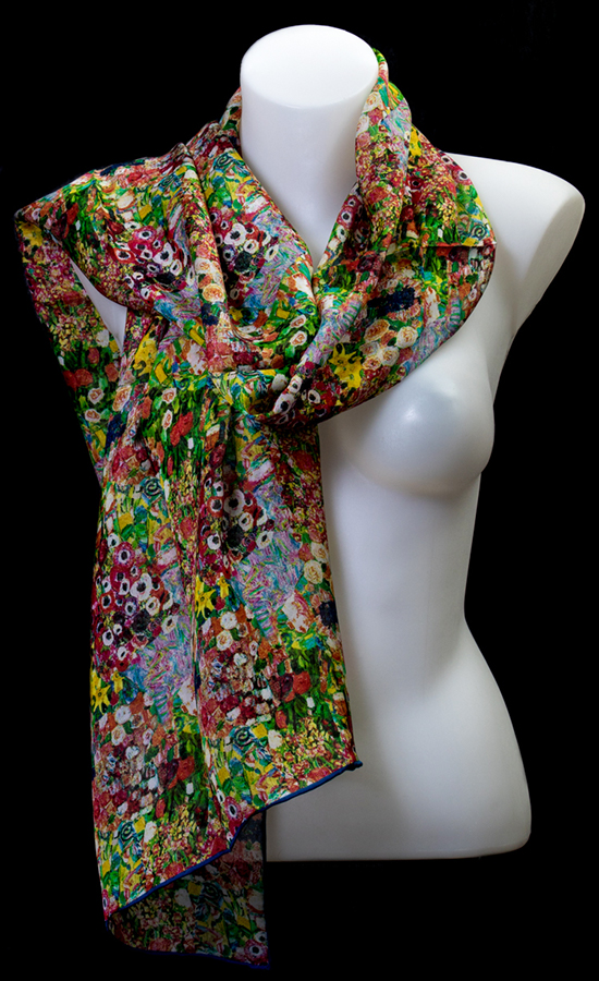 Gustav Klimt silk scarf : Dancer