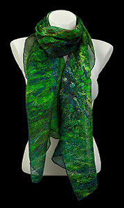 Claude Monet silk scarf : The Japanese pond