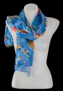 Kandinsky silk scarf : Blue of the sky