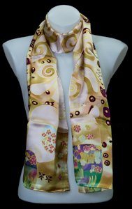 Gustav Klimt scarf : The Tree of Life