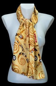 Gustav Klimt scarf : The Tree of Life (gold)
