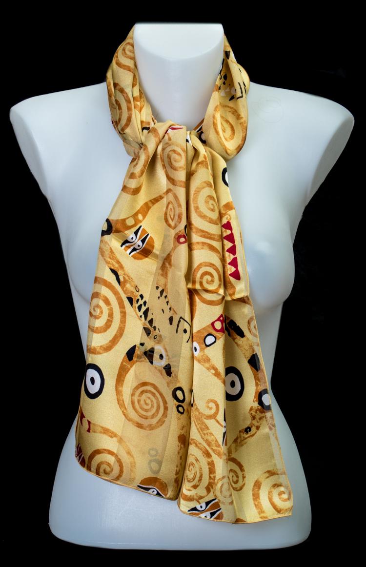Klimt L Arbre De Vie Tableau foulard en soie gustav klimt : l'arbre de vie (or)