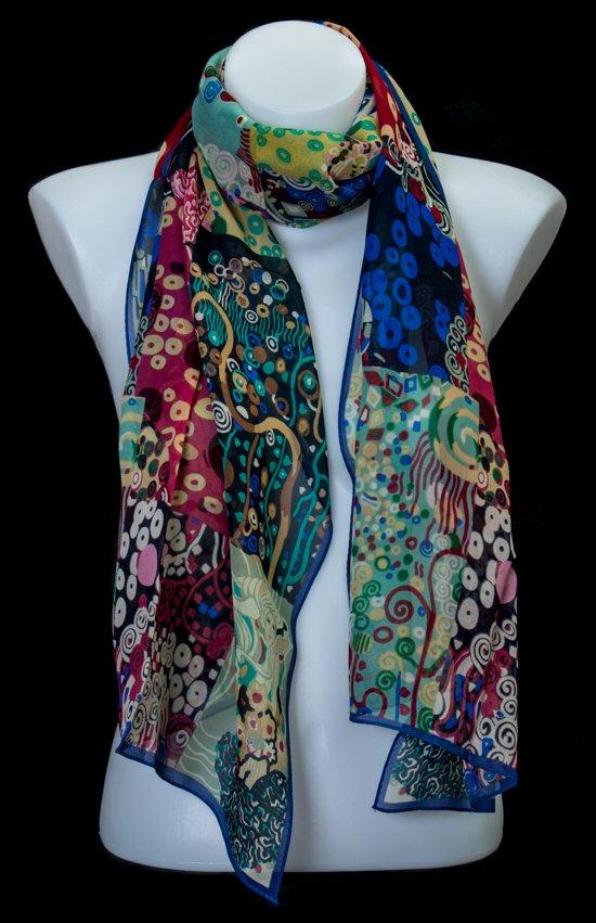 Silk Scarf Gustav Klimt Patchwork