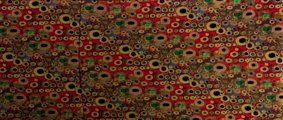 Gustav Klimt scarf : Art Nouveau (red) (unfolded)