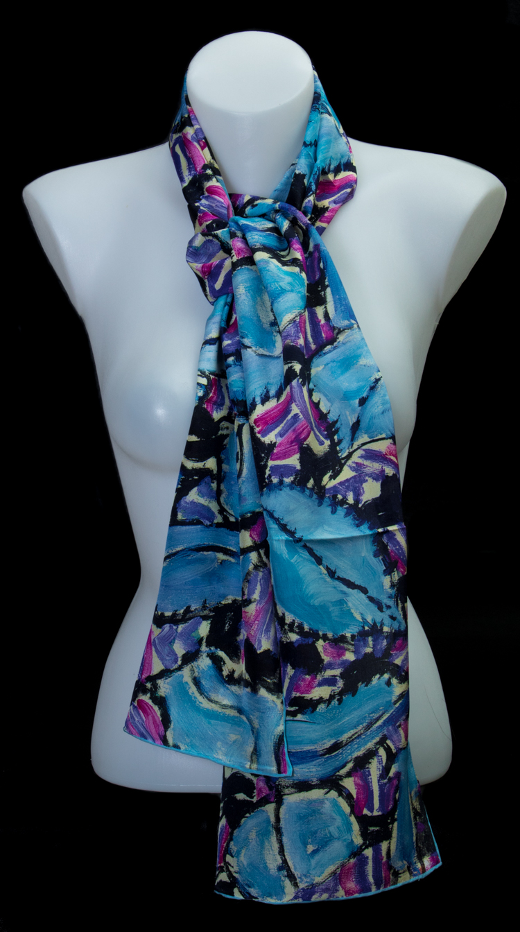 dfa4924981fd Echarpe en soie Gustav Klimt   Turquoise   Rose
