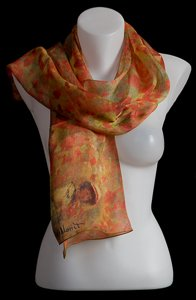 Claude Monet scarf : Poppies