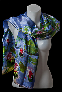 Foulard Monet : Nenufari
