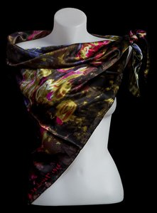 Foulard Monet : Nenufari (violet)