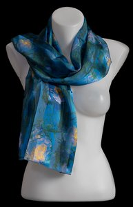 Foulard Monet : Nenufari blu