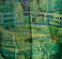 Claude Monet scarf : The Japanese Bridge of Giverny (unfolded)