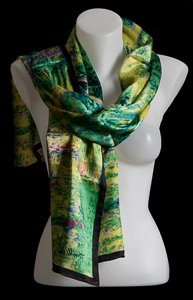 Claude Monet scarf : The Japanese Bridge of Giverny