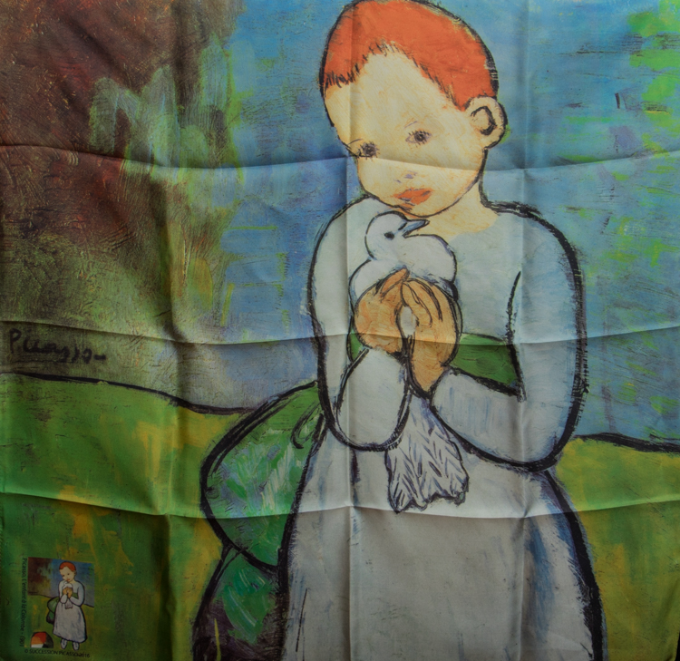Pablo Picasso Silk Scarf 90 x 90 cm : Child with a Dove : the Art scarf