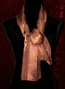 Foulard Leonardo Da Vinci : Codex (marron)