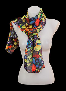 Tiffany silk scarf : Autumn Fruits
