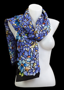 Tiffany silk scarf : Clematis
