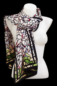 Tiffany silk scarf : Cyclamens