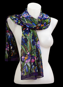 Tiffany silk scarf : Iris