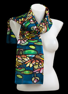 Tiffany silk scarf : Water Lily