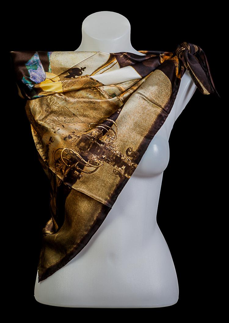 modèle unique chaussures de course Beau design Carré de soie Jan Vermeer : L'Atelier de l'artiste, 90 x 90 cm