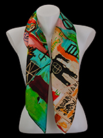 Jean-Michel Basquiat scarves